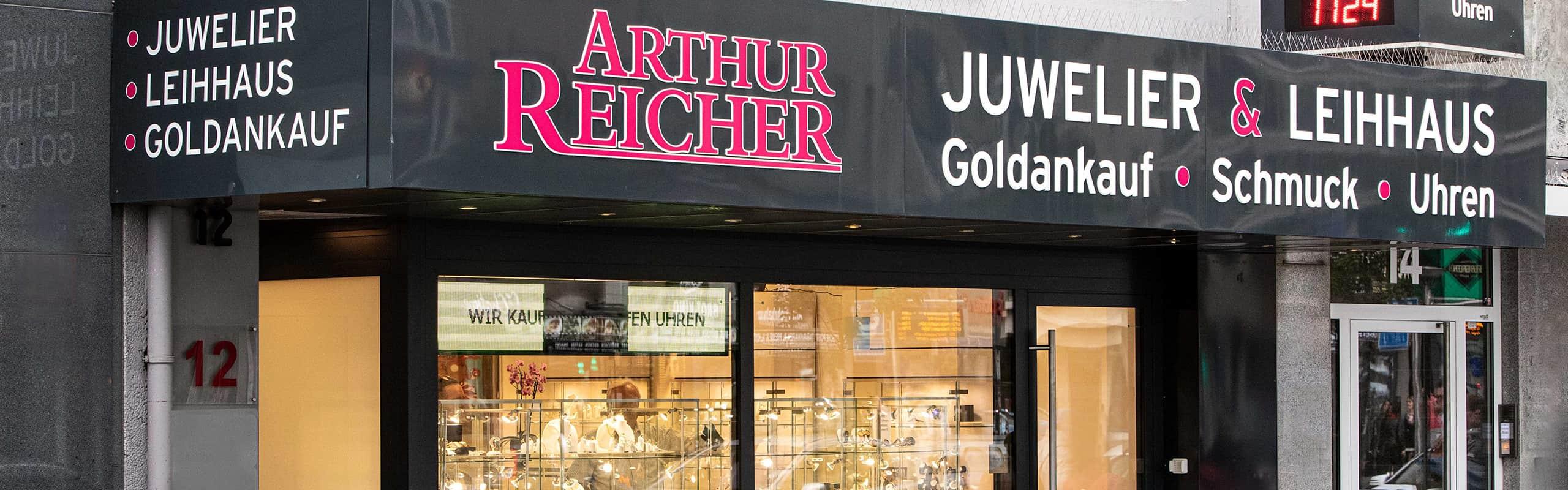 schaufenster des juweliers arthur reicher