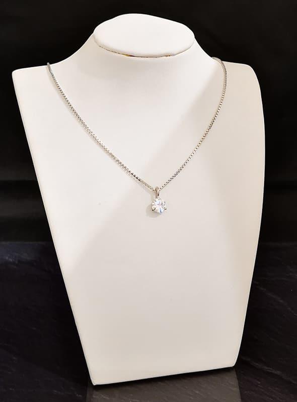schlichte kette mit diamant anhaenger